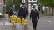 18yearold arrested after Walthamstow knife murder London Walthamstow EXT Various of police cordon in area where Elijah Dornelly was killed