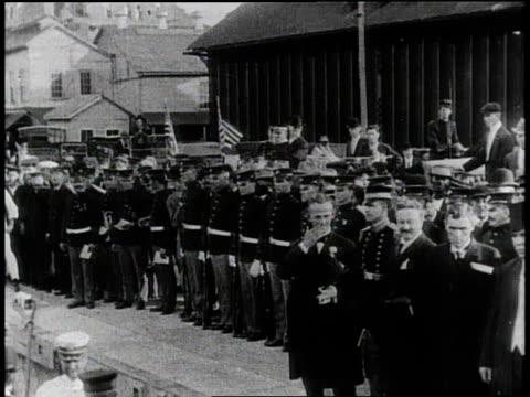 1910s B/W President Taft visiting the Panama Canal Zone / Panama