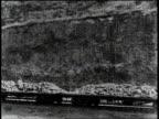 1910s B/W Trains moving near the Panama Canal / Panama