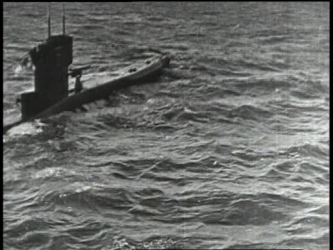 1910s HA German Uboat on top of water