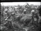 1910s WS soldiers walking through a muddy trench / Kars Austria