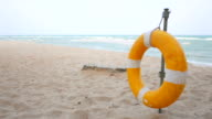 HD 1920x1080 - Life buoy on the beach