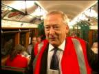 1930s London Underground train journeys along Northern Line INT Jeff Ellis interview SOT