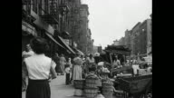 1930s New York City Outdoor Neighborhood Produce Stands