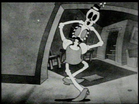 1930s WS skeleton dancing