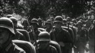 1940s B/W MONTAGE Germans army marching / Germany