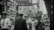 1940s B/W MONTAGE Street scene / New York City, New York, USA