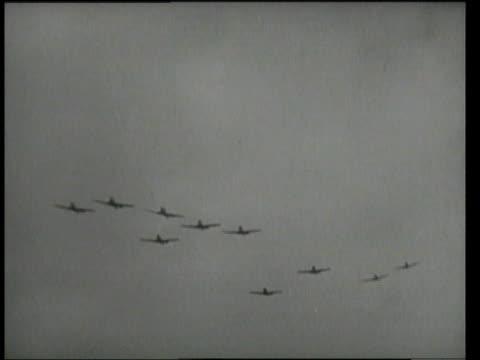 1940s MONTAGE Bombers /