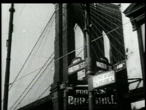 1940s MONTAGE New York / Brooklyn, New York, United States