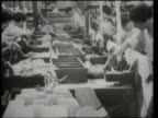 1940s MONTAGE People working in war production plants / United States