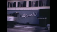 1940s West Hollywood Night Clubs / Sunset Strip  - Home Movie
