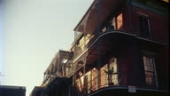 1950s MS LA Building in French Quarter, New Orleans, Louisiana, USA