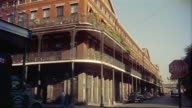 1950s WS Buildings in French Quarter, New Orleans, Louisiana, USA