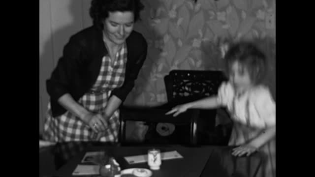 1950s Girls leave cookies, milk and a letter for Santa Claus -  Home Movies
