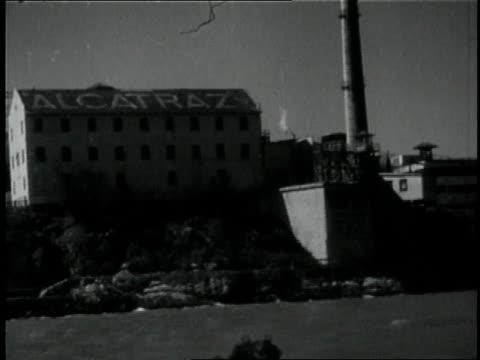 1950s MONTAGE People on a tour of Alcatraz / San Francisco, California, United States