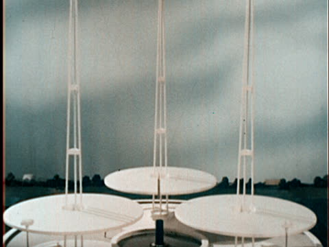 1960s MS TD ZI Architectural model of Westinghouse time capsule exhibit at 1964 World's Fair in Flushing Meadows/ Queens NY