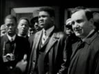 1960s B/W MS Muhammad Ali interviewed upset after being called Cassius Clay / USA / AUDIO