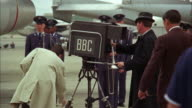 1960s MS Camera operators at work during military ceremony
