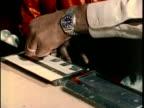1970s CU Teen being fingerprinted, Los Angles, California, USA, AUDIO
