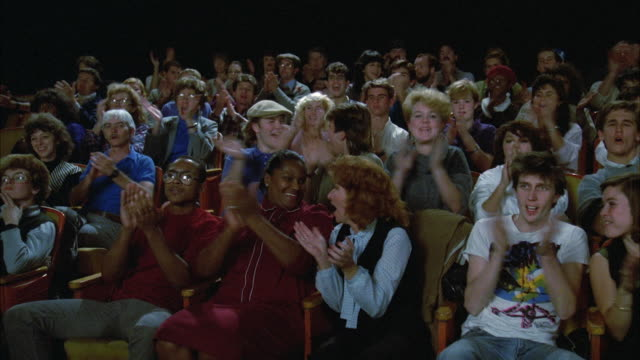 1980s MS Audience clapping hands