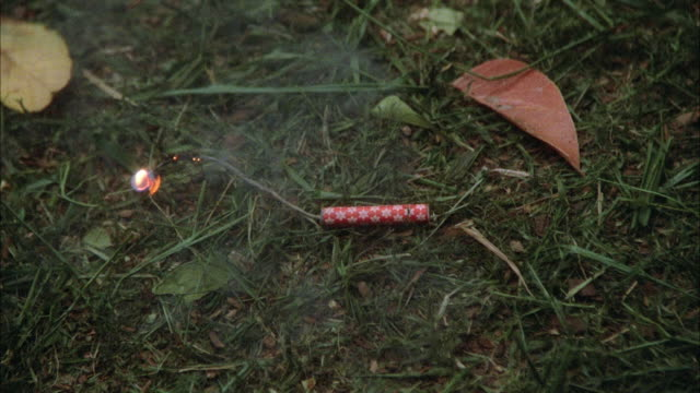 1980s CU HA Firecrackers exploding on ground
