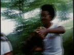 1980s MONTAGE Deaf teenagers exercising and working at Swan Lake Camp / Pengilly Minnesota United States