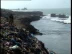 1Oct1998 WS Animals on pile of garbage near Somali coast / Mogadishu Benadir Somalia