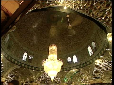 1st May 2000 WS LA PAN Mirrored ceiling of Saint Massoumeh shrine / Qum, Iran