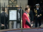 200th Anniversary of abolition of slavery Westminster Abbey service protestor Queen Elizabeth and Prince Philip Duke of Edinburgh out of Westminster...