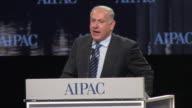 22Mar2010 MS Israeli Prime Minister Benjamin Netanyahu gives speech at AIPAC at Washington Convention Center / Washington DC
