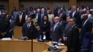23rd anniversary of Rwandan genocide is marked at the headquarter of African Union building in Addis Ababa Ethiopia on April 7 2017 Genocide against...