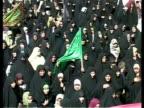 24th Feb 2009 MONTAGE Shia pilgrimage through packed streets / Baghdad Iraq