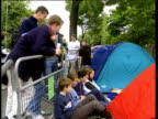 26Jun1998 MONTAGE People watching TV as England play Colombia including Glastonbury Festival goers and Tony Blair empty roads pub celebrations /...