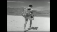 28yearold Jean Pierre Marquaint a former French paratrooper finishes a sevenday 100 mile hike across Death Valley and becomes the first man in...