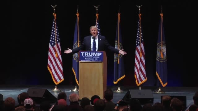 2minute clip of Donald Trump at the Verizon Arena in New Hampshire when a woman in the crowd shouts out that Ted Cruz is a p****