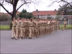 2nd Battalion the Mercian Regiment welcomed home Military band accompanies 2nd Battalion the Mercian Regiment marching onto parade ground families...