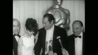 37th Annual Academy Awards Santa Monica Civic Auditorium PRESS ROOM INTERVIEWS George Cukor Rex Harrison Jack Warner SOF interview Warner Bros Studio