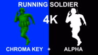 3d Loopable Running Soldier