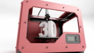 3d Printer Red ani close