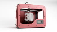 3d Printer Red ani rotating