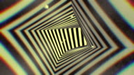 3d rendering animation Hypnotic tunnel seamless looping  background