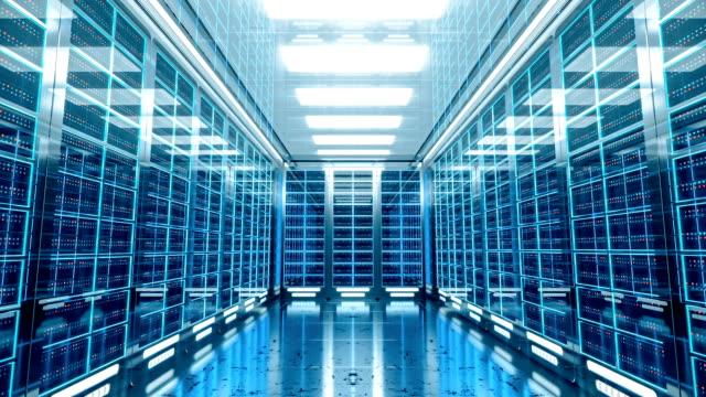 3d server room interior