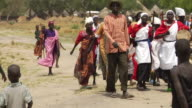 3rd March 2009 WS PAN Group wearing traditional clothing marching and singing / Duk Payuel Jonglei Sudan