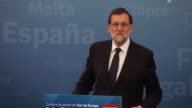 '3rd Summit of the Southern European Countries of European Union'end in Madrid Spain on April 10 2017 Spanish Prime Minister Mariano Rajoy French...