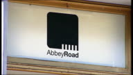 40th anniversary of Beatles 'Abbey Road' album cover GV Exterior of Abbey Road Studios Name above door 'Abbey Road' CCTV camera Low Angle shot of...