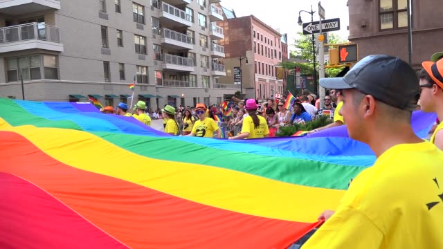 46th Anniversary of the annual New York City Gay Pride March via 5th Avenue and ending in the West Village The NYC Pride March is one of the largest...