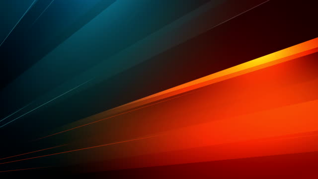 4k Abstract Minimalistic Background (Orangle, Blue/Green) - Loop