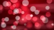 4 k colore Sfondo astratto Bokeh rosso. Cuciture Loop