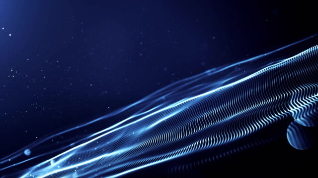 4k Abstract Wave Background Loop (Dark Blue)