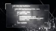 4k Binary Data Flowing Through Program (Black)